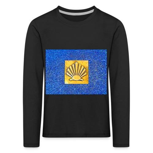 Scallop Shell Camino de Santiago - Kids' Premium Longsleeve Shirt