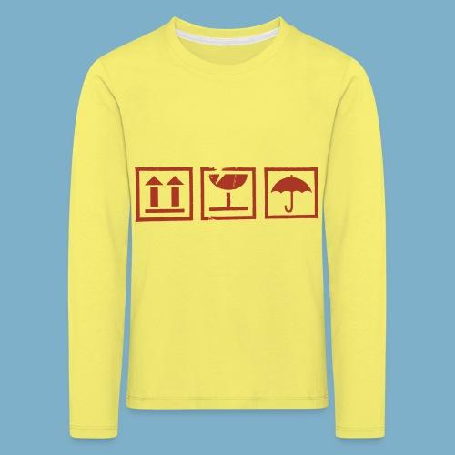 Zerbrechlich - Kinder Premium Langarmshirt
