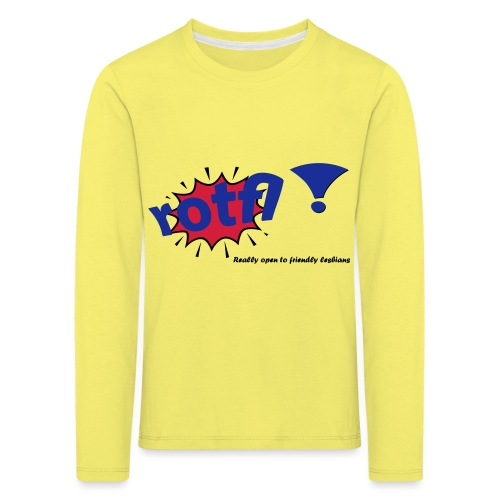 rotfl ! - Lasten premium pitkähihainen t-paita
