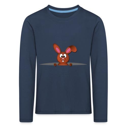 Cute bunny in the pocket - Maglietta Premium a manica lunga per bambini