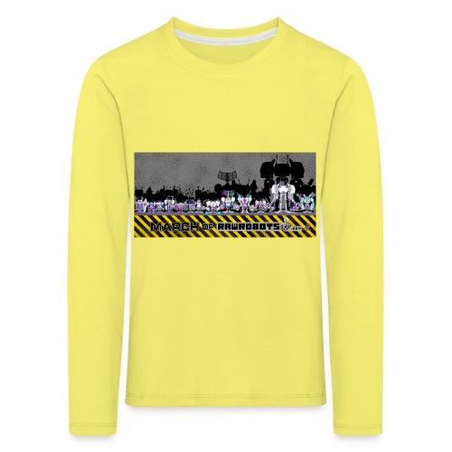 #MarchOfRobots ! LineUp Nr 2 - Børne premium T-shirt med lange ærmer