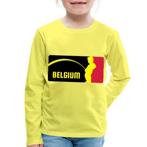 Mannekke Pis, Belgium Rode duivels - Belgium - Bel - T-shirt manches longues Premium Enfant