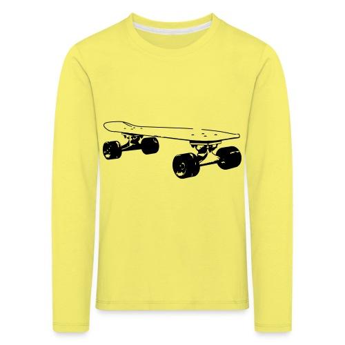 Longboard Skateboard - Kinder Premium Langarmshirt