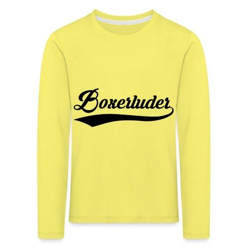 Motorrad Fahrer Shirt Boxerluder - Kinder Premium Langarmshirt