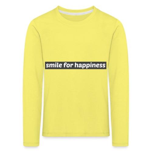 smile for happiness - Långärmad premium-T-shirt barn