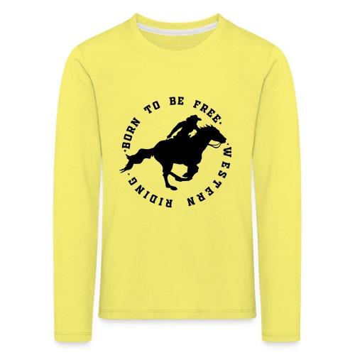 WESTERN HORSES - Koszulka dziecięca Premium z długim rękawem