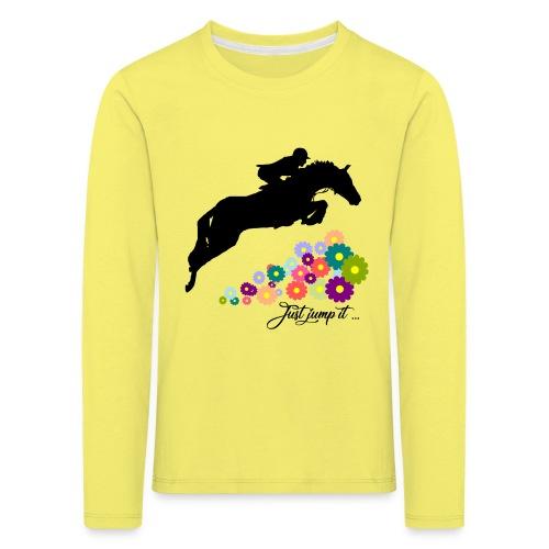 KONIE skoki just jump it - Koszulka dziecięca Premium z długim rękawem