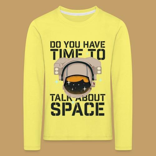Time for Space - Koszulka dziecięca Premium z długim rękawem