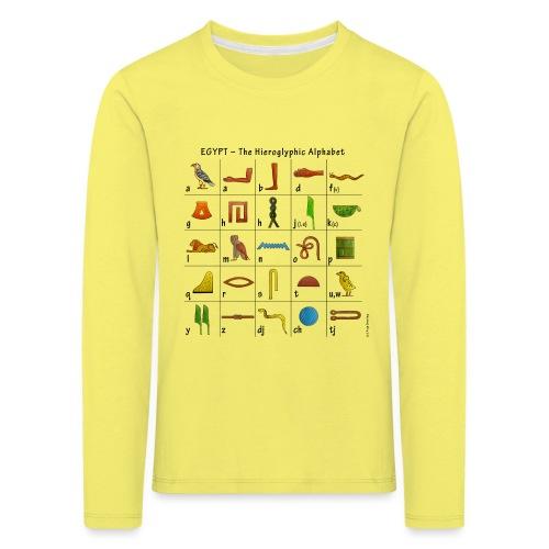 Ägyptisches Alphabet - Kinder Premium Langarmshirt