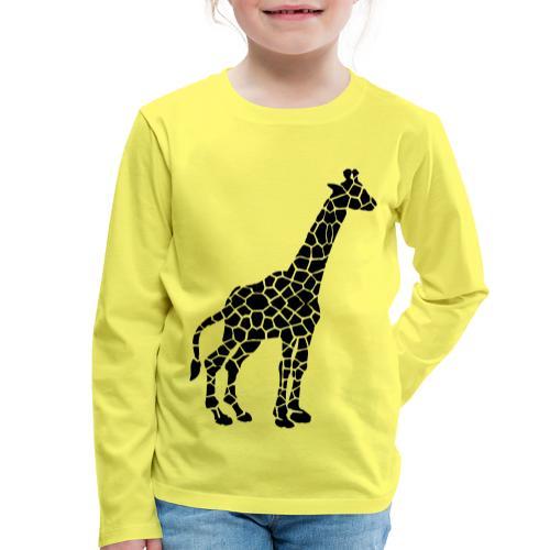 Giraffe (black) - Lasten premium pitkähihainen t-paita