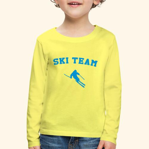 ski team - T-shirt manches longues Premium Enfant