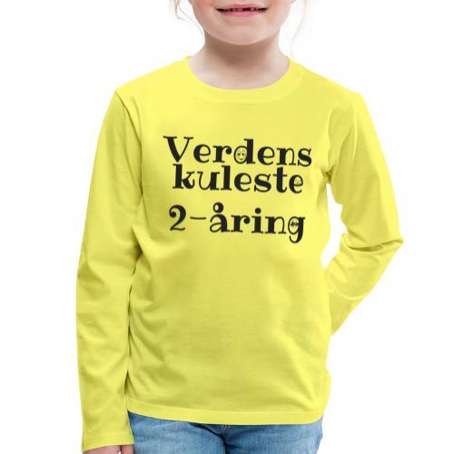 Verdens kuleste 2-åring - Premium langermet T-skjorte for barn