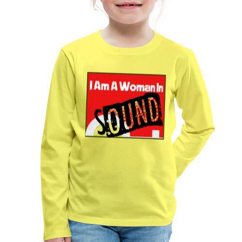 I am a woman in sound - red - Kids' Premium Longsleeve Shirt