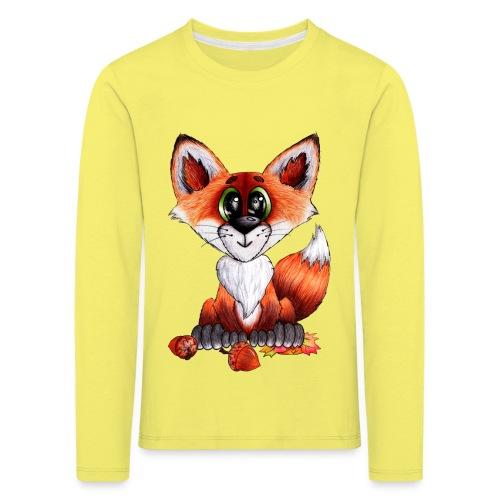 llwynogyn - a little red fox - Lasten premium pitkähihainen t-paita