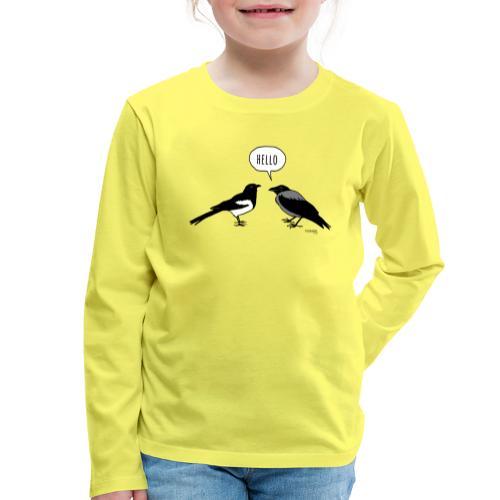 Hello - Lasten premium pitkähihainen t-paita