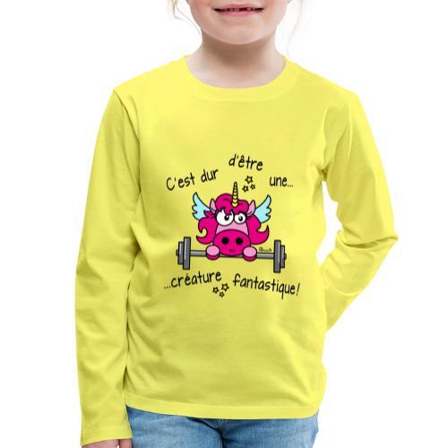 Licorne Muscu Créature Fantastique - T-shirt manches longues Premium Enfant