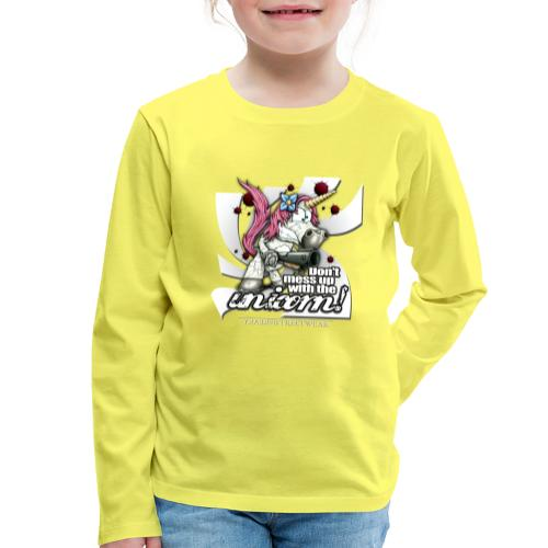 Don't mess up with the unicorn - Kinder Premium Langarmshirt
