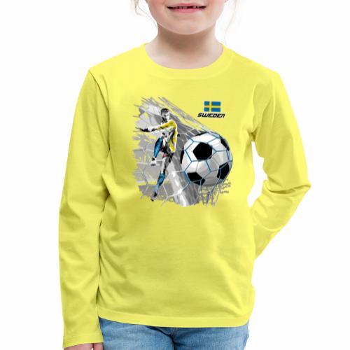 FP22F 16 SWEDEN FOOTBALL - Lasten premium pitkähihainen t-paita