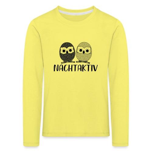 Nachtaktiv - Kinder Premium Langarmshirt