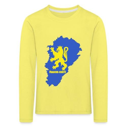 Carte Franche-Comté + lion - T-shirt manches longues Premium Enfant