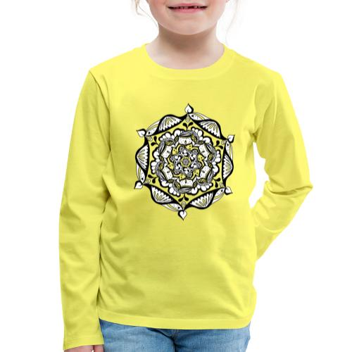 Mandala Flower - Kinder Premium Langarmshirt