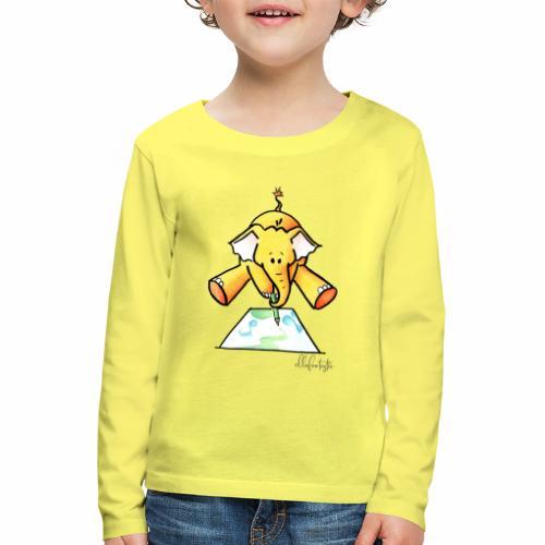 Ellafant malt Klangbild mit Stift - Kinder Premium Langarmshirt