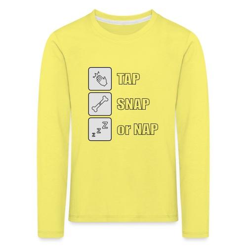 tap snap or nap - Koszulka dziecięca Premium z długim rękawem