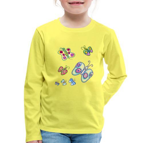 Allegria di farfalle - Maglietta Premium a manica lunga per bambini