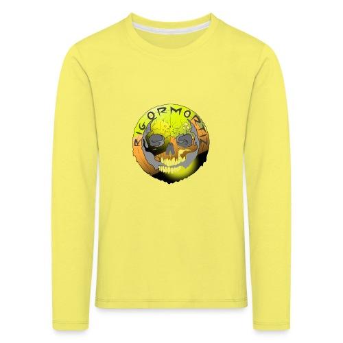 Rigormortiz Metallic Yellow Orange Design - Kids' Premium Longsleeve Shirt