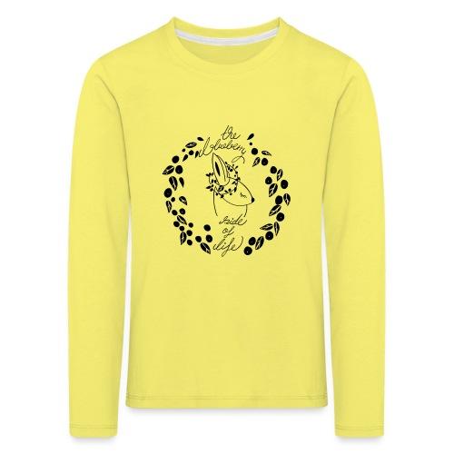 The blueberry side of life bunny - Kinder Premium Langarmshirt