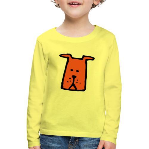 süßer Hund - Design - Geschenk für Kinder - Comic - Kinder Premium Langarmshirt