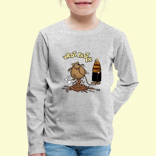 DIRKJAN Hondenpoep - Kinderen Premium shirt met lange mouwen
