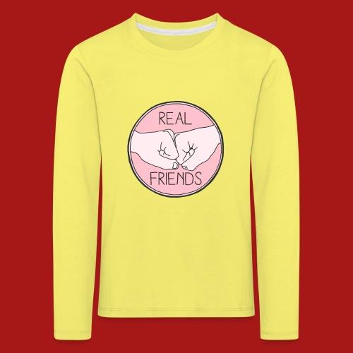 Real Friends - Børne premium T-shirt med lange ærmer