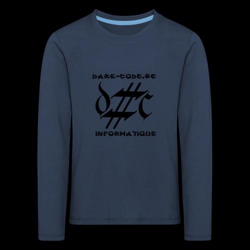 Dark-Code Black Gothic Logo - T-shirt manches longues Premium Enfant