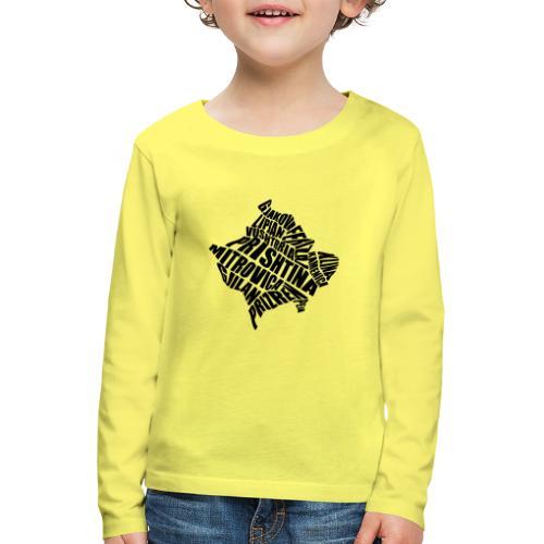 Kosovo Land mit allen Städten - Kinder Premium Langarmshirt