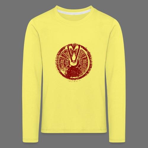 Maschinentelegraph (rød oldstyle) - Børne premium T-shirt med lange ærmer
