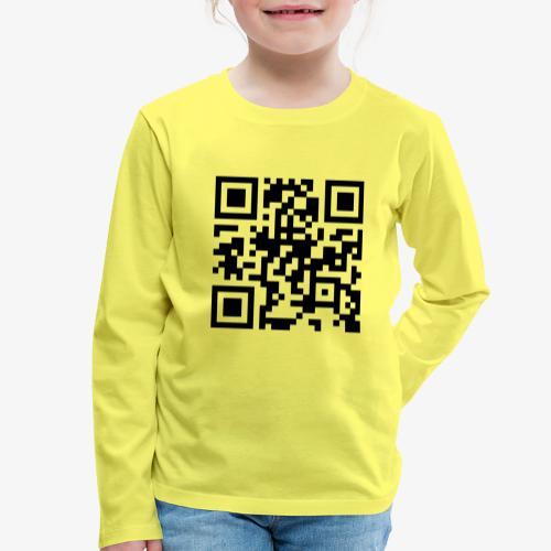 QR Code - Kids' Premium Longsleeve Shirt
