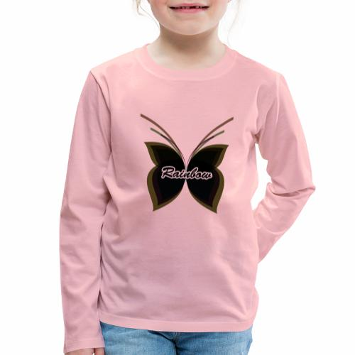 Black Butterfly Rainbow - Kinder Premium Langarmshirt