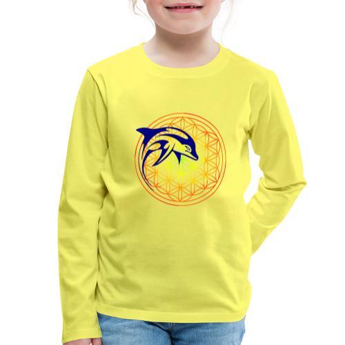 fleur de vie dauphin - T-shirt manches longues Premium Enfant