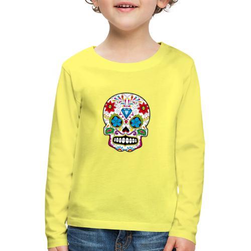 skull5 - Maglietta Premium a manica lunga per bambini