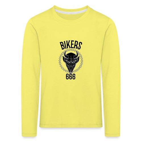 biker devil black 666 - T-shirt manches longues Premium Enfant