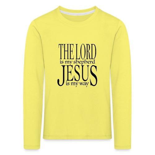 The Lord is my shepherd - Långärmad premium-T-shirt barn