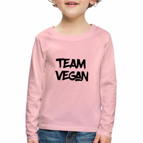 Black Design Team Vegan - Kinder Premium Langarmshirt