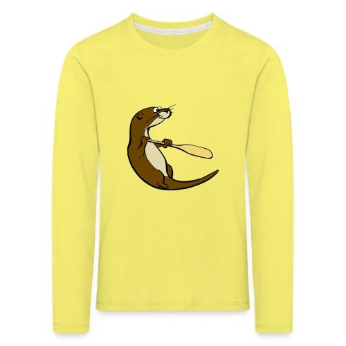 Classic Song of the Paddle otter logo - Kids' Premium Longsleeve Shirt