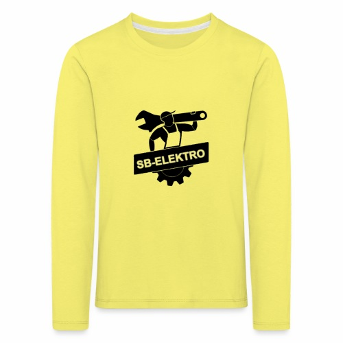 SB transp 1000 png - Børne premium T-shirt med lange ærmer