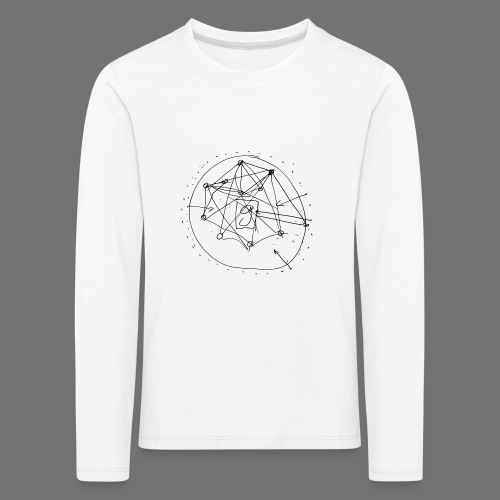 SEO strategia No.1 (musta) - Lasten premium pitkähihainen t-paita