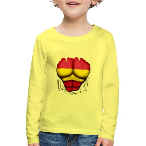 España Flag Ripped Muscles six pack chest t-shirt - Kids' Premium Longsleeve Shirt
