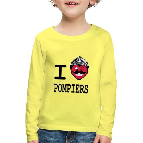 i_love_pompier_4 - T-shirt manches longues Premium Enfant
