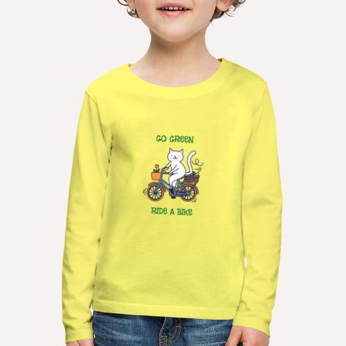 Caring About Climate Change? Go Green Ride A Bike - Kids' Premium Longsleeve Shirt