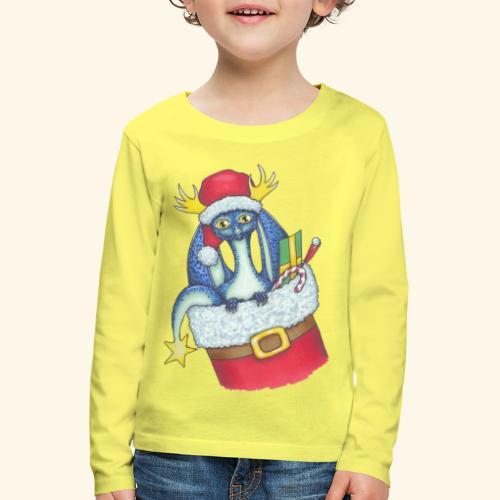 Juldrake - Långärmad premium-T-shirt barn